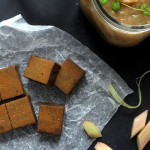 Raw Liquorice Toffee w Rhubarb Compote