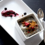 Raw Vanilla pudding w Antioxidant Jam &amp; Nordic Superfoods