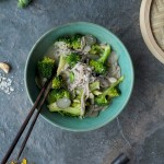 Broccoli Soba Noodle Bowl + Bun in the oven