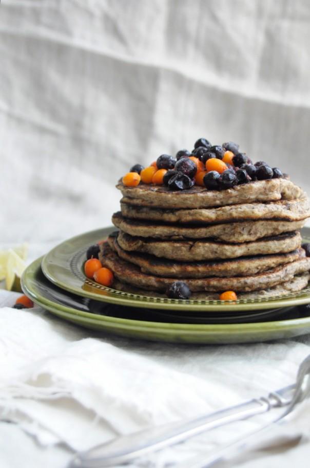 Vegan/Gluten/Sugar-free banana pancakes