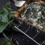 The 1st picnic – Nettle tart w chickpea & hazelnut crust