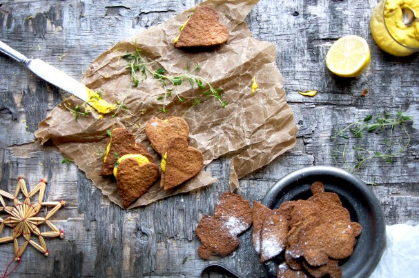 Vegan Ginger Bread Cookies w Tangy Saffron Fluff at www.Earthsprout.com