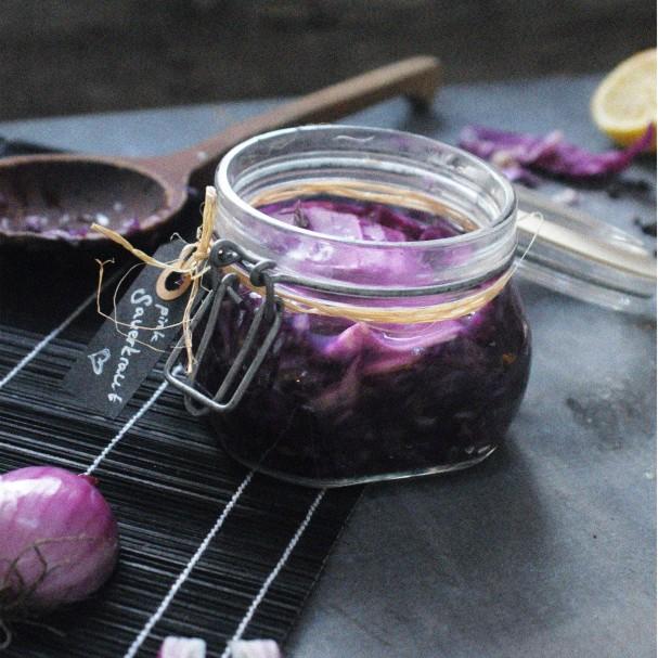 Purple Sauerkraut for Fabulous Fermentation Week - www.Earthsprout.com