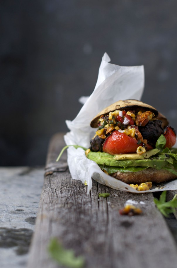 Grilled Portabello Burgers w Seriously Sensational Superfood Salsa on www.Earthsprout.com