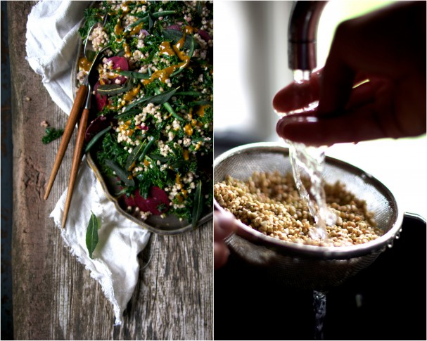 Buckwheat Salad w Sweet Turmeric Dressing + Fried Sage || Iceland || www.Earthsprout.com