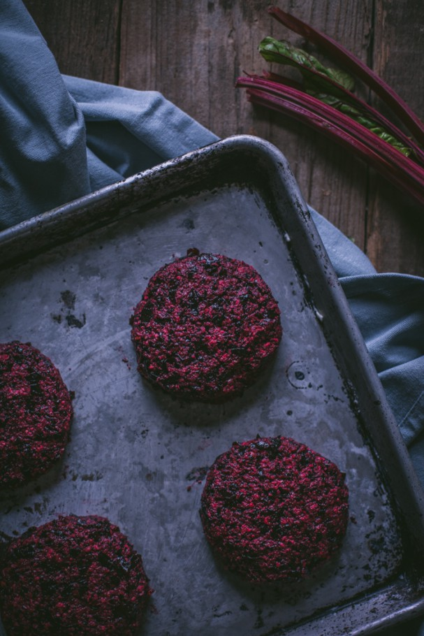Roasted Beet & Hazelnut Burgers by Adventures In Cooking on www.Earthsprout.com