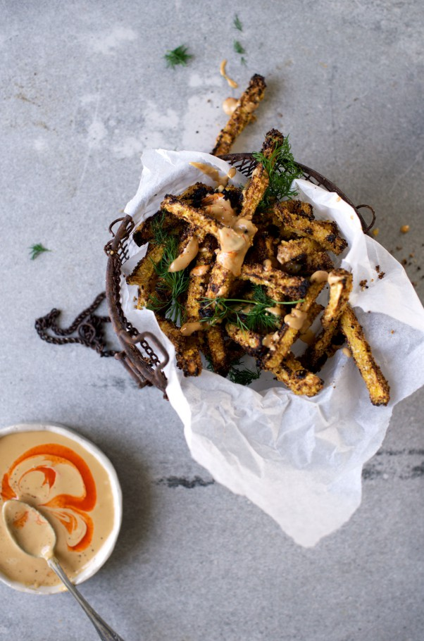 Celeriac Fries w Creamy Miso Dip + Dinner Hacks