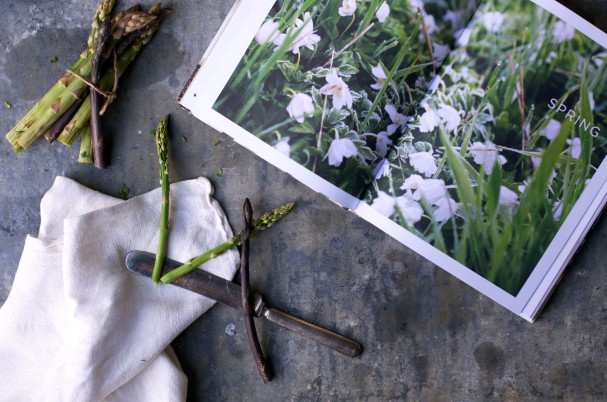 Asparagus + Caramelized Onion Socca á la Sarah B @ www.Earthsprout.com