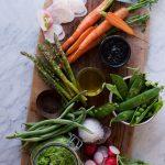 Spring Crudités w Black Tahini & Green Pea(ce) Dip