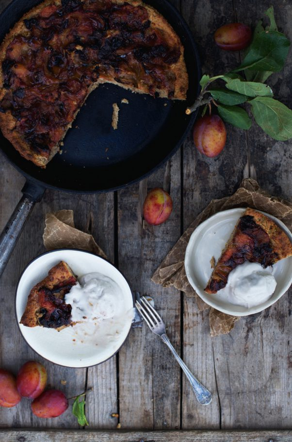 Plum Frangipane (Vegan, GF, Whole) @ www.Earthsprout.com