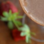 Raw Chocolate/Strawberry Milkshake Deluxe