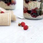 Rooibos infused bircher muesli w berry delight