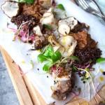 Sunchokes Three Ways + Microgreens & Black Quinoa