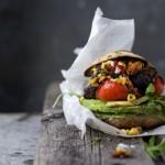 Grilled Portobello Burger w Seriously Sensational Salsa