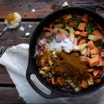 The Winter Feast – Masala Kitchari, Naan, Greens + Ginger Appetizer